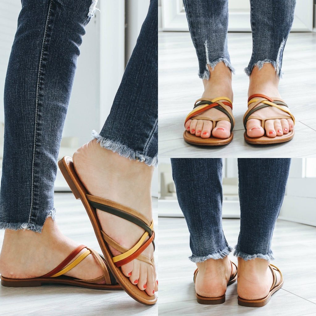 DENVER-S Strappy Sandals - Online Clothing Boutique