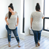 Plus Size Striped Tee - Online Clothing Boutique
