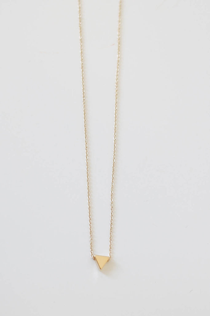 Geometric Triangle Necklace - Online Clothing Boutique