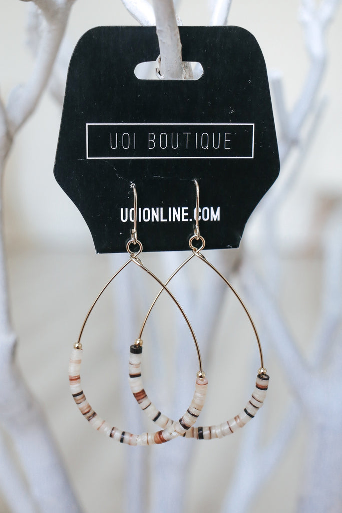 Beaded Earrings - Online Clothing Boutique