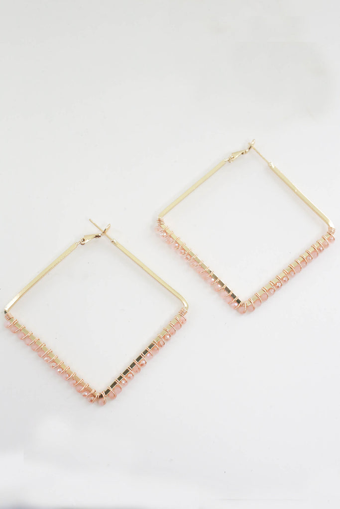 Geometric Hoop Earrings - Online Clothing Boutique