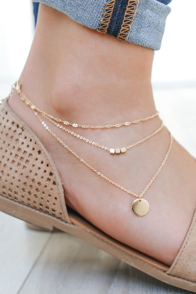 Gold Boho Anklet - Online Clothing Boutique