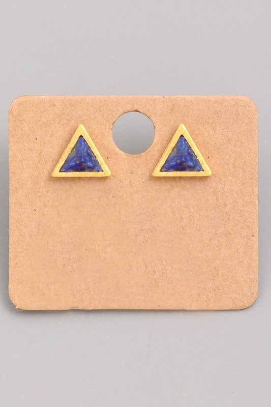 Faux Stone Tetrahedron Earrings - Online Clothing Boutique