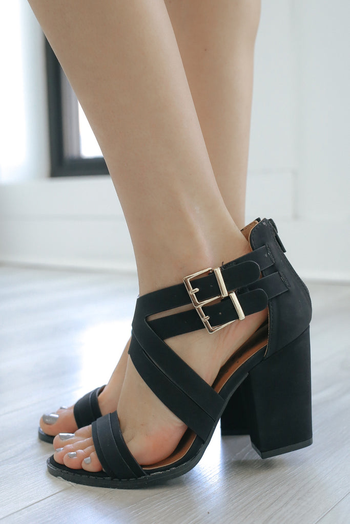 LOST-28 Open Toe Heels - Online Clothing Boutique