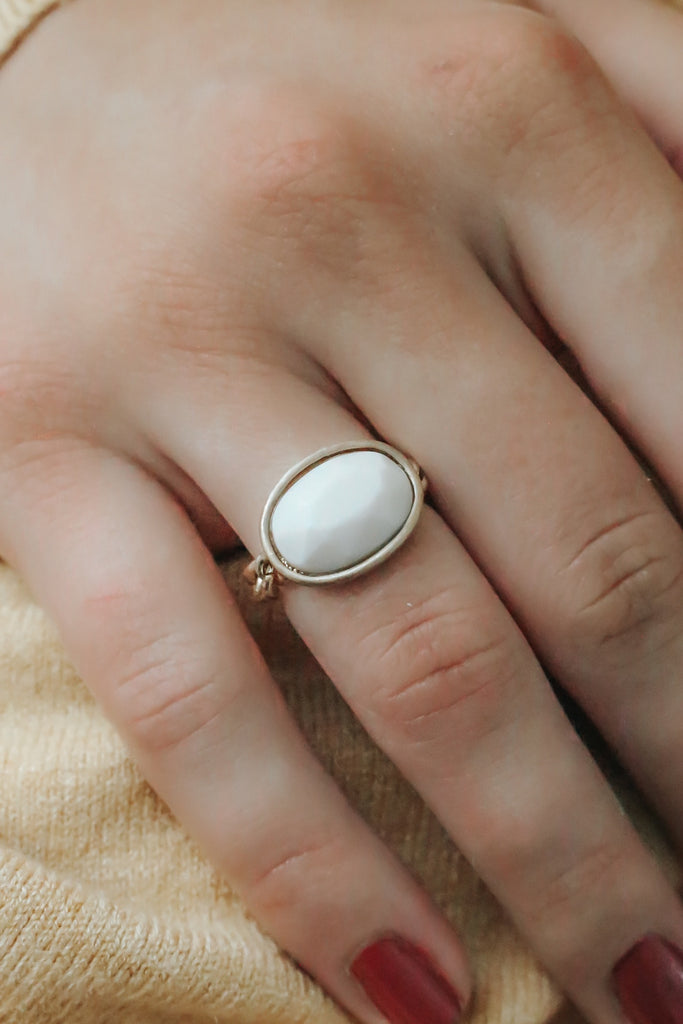 Faux Stone Ring - Online Clothing Boutique