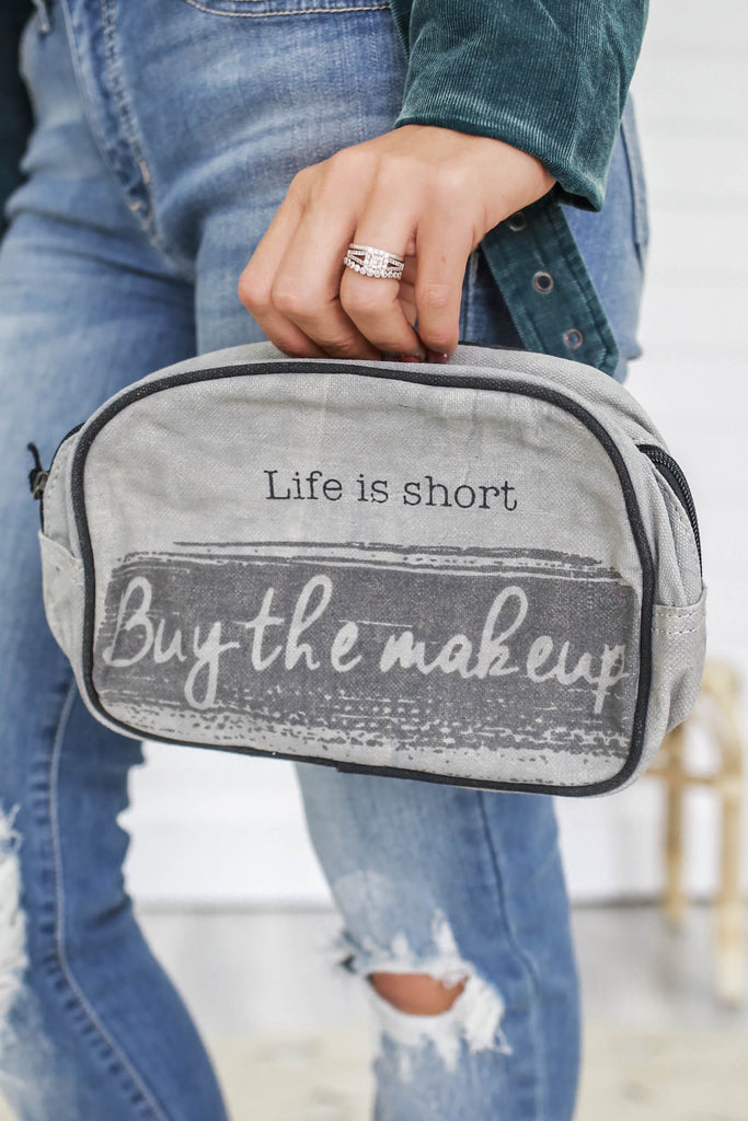 Canvas Makeup Bag - Online Clothing Boutique