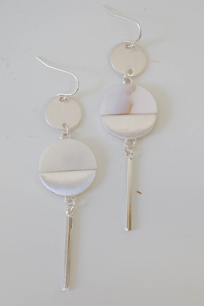 Circle Dangle Fish Hook Earrings - Online Clothing Boutique