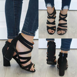 EVERLY-36 Strappy Heels - Online Clothing Boutique