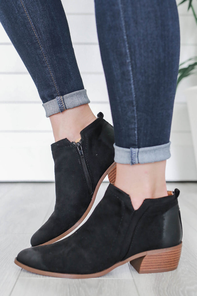 Rager-01 Faux Suede Ankle Booties - Online Clothing Boutique