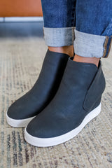 Faux Suede Sneaker Wedges | Stylish & Affordable | UOI Online