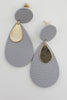 Leather Teardrop Earrings - Online Clothing Boutique