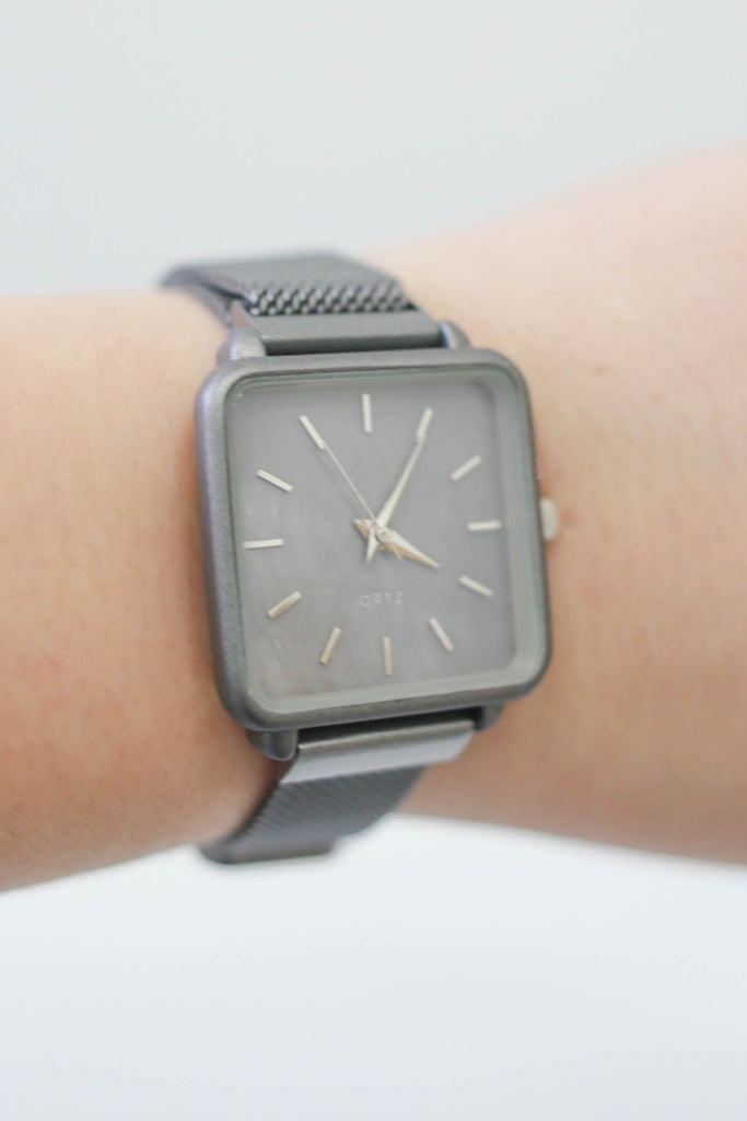 Metal Rectangle Watch - Online Clothing Boutique