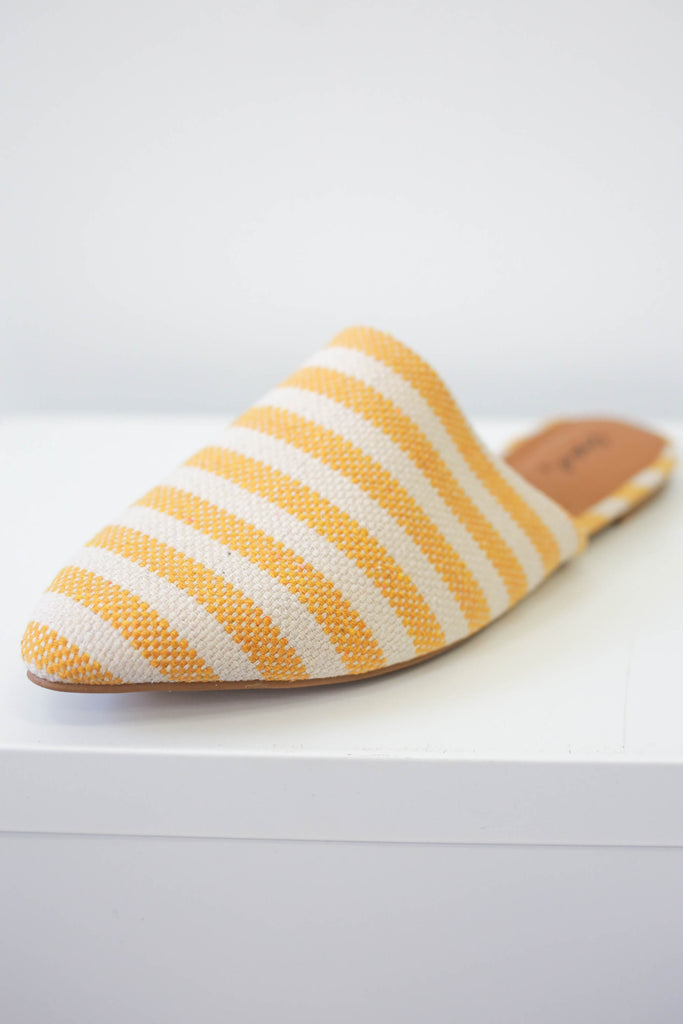 Striped Mules - Online Clothing Boutique