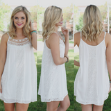 Cami Strap Lace Detail Mini Dress
