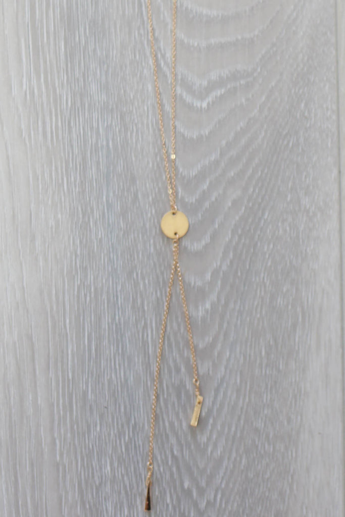Circle Pendant Necklace - Online Clothing Boutique