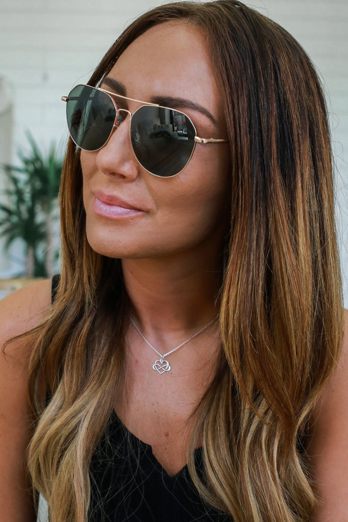 Geometric Aviator Sunglasses - Online Clothing Boutique