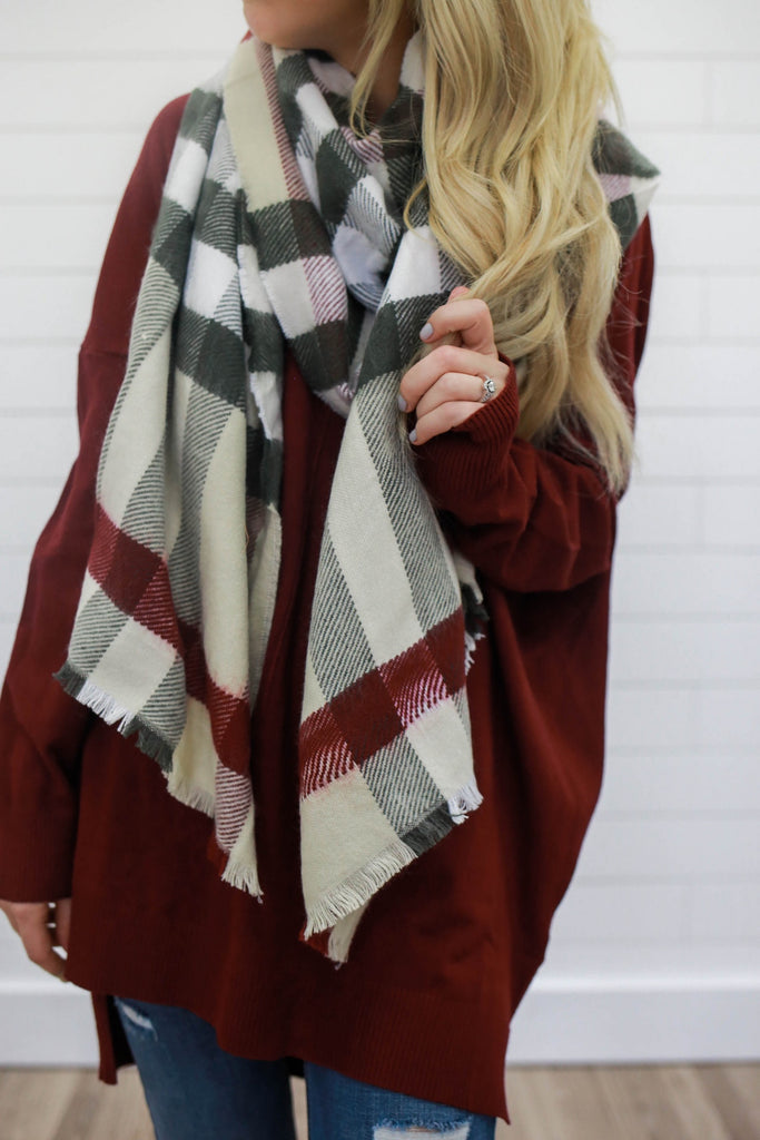 Plaid Scarf - Online Clothing Boutique