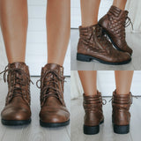 PAPER-50 Quilted Ankle Boots - Online Clothing Boutique