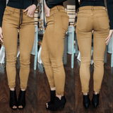 Mustard Mid Rise Skinny Fit Denim
