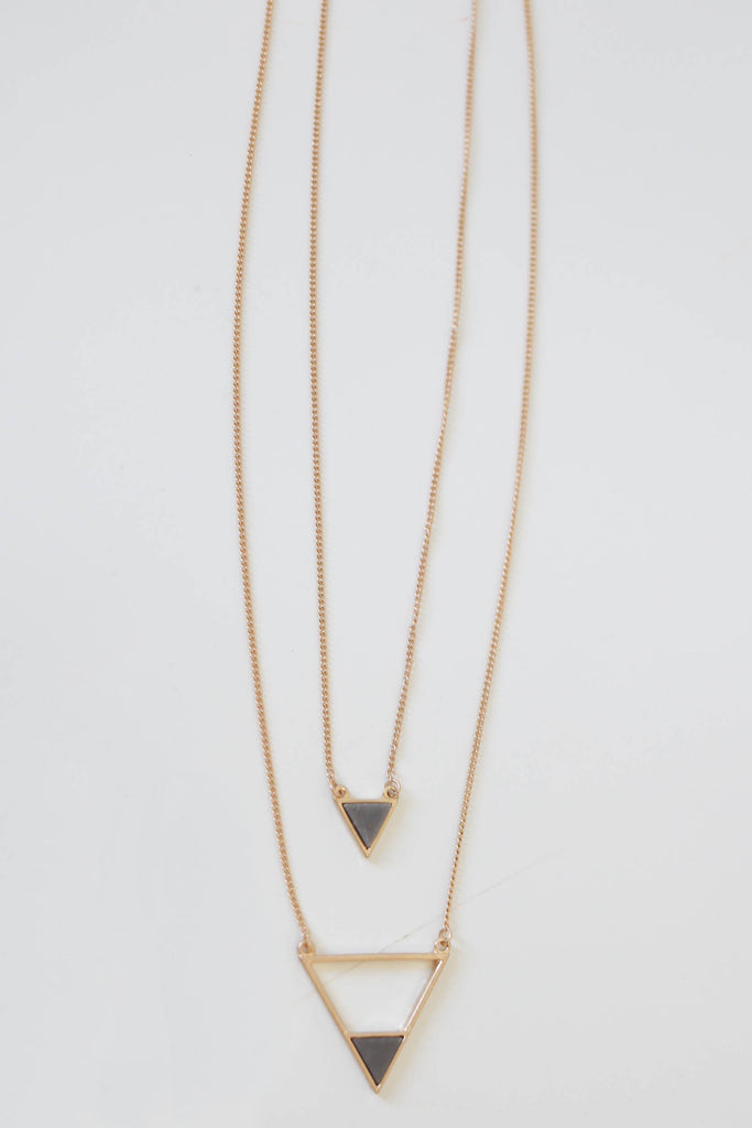 Long Triangle Necklace - Online Clothing Boutique