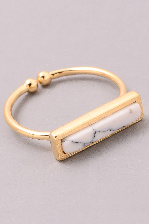 Faux Marble Ring - Online Clothing Boutique
