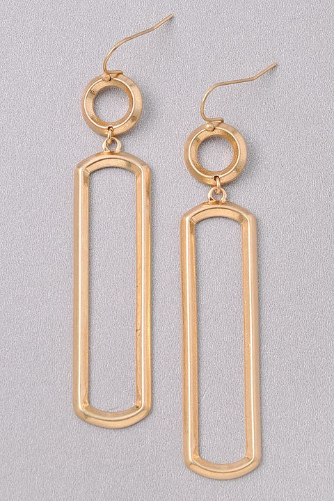 Dangly Geometric Earrings - Online Clothing Boutique