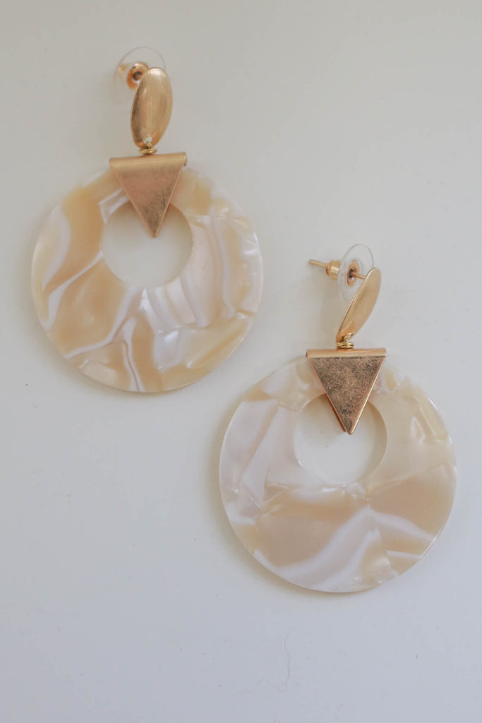 Circle Drop Earrings - Online Clothing Boutique