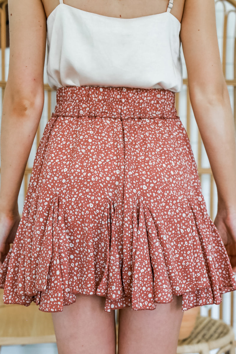 High Waist Pleated Animal Print Skirt | Stylish & Affordable | UOI Online