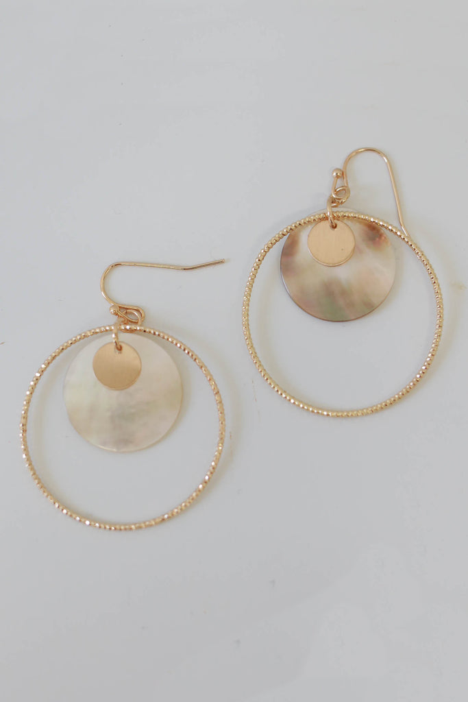 Open Circle Dangle Earrings - Online Clothing Boutique