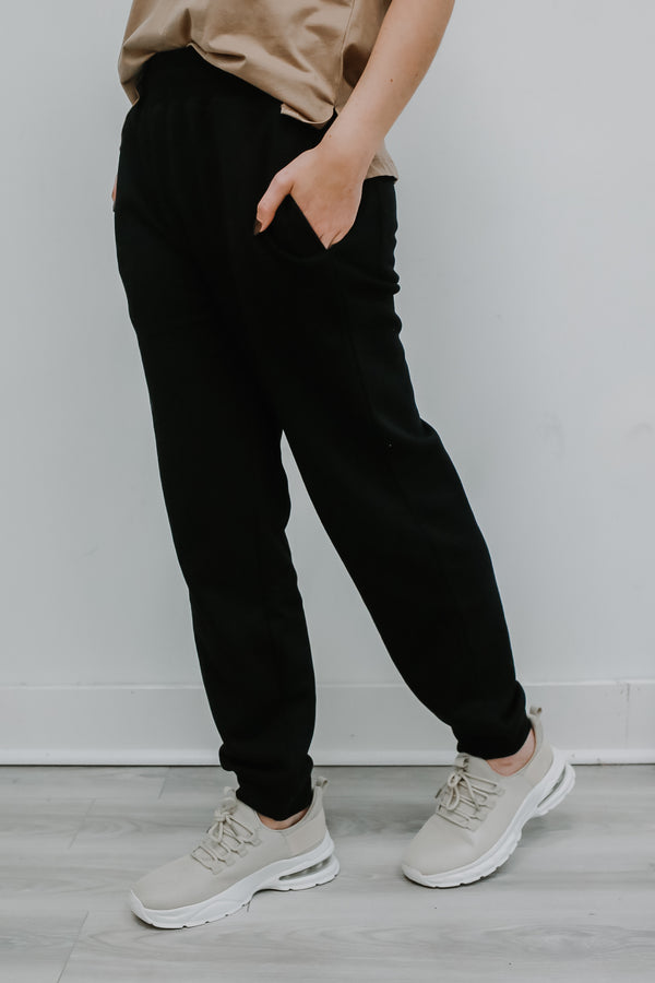 Elastic Waist French Terry Sweatpants | Stylish & Affordable | UOI Online