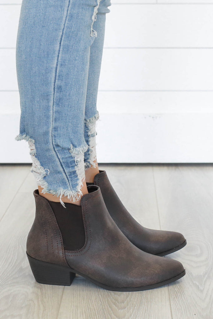 SPOT-63 Pointed Toe Ankle Booties - Online Clothing Boutique