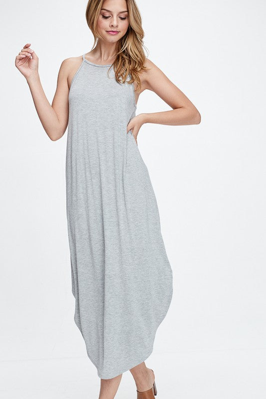 High Neck Cami Strap Maxi Dress | Stylish & Affordable | UOI Online