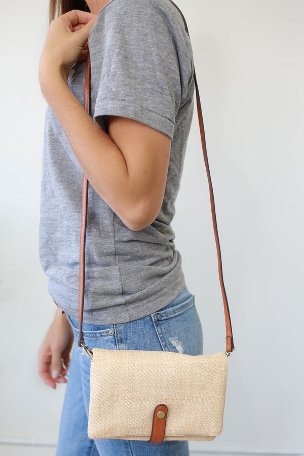 Straw Convertible Clutch - Online Clothing Boutique