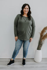Plus Size Long Sleeve Round Neck Top | Stylish & Affordable | UOI Online