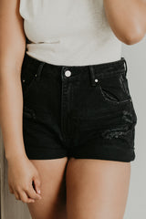 Barbados Denim Shorts - Black