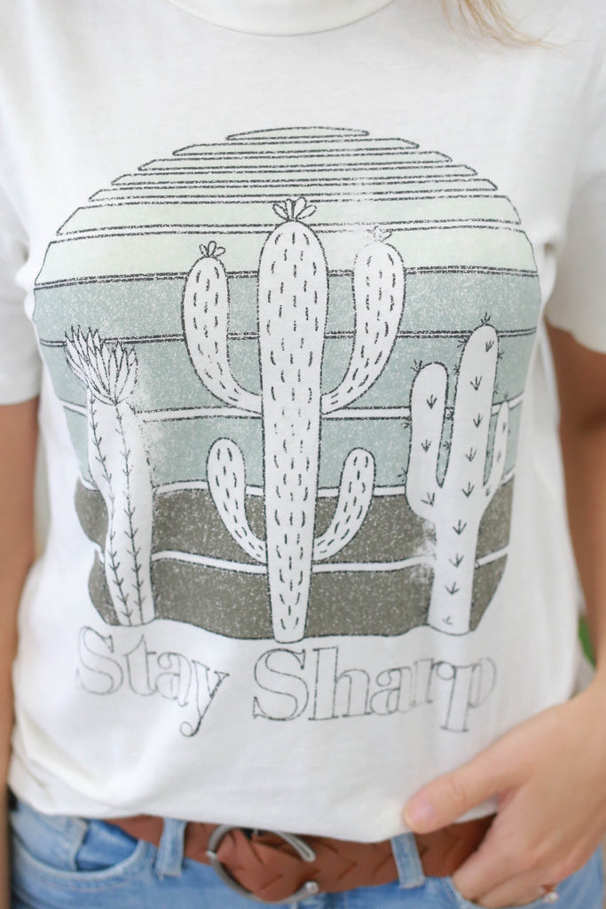 Cactus Graphic Tee - Online Clothing Boutique