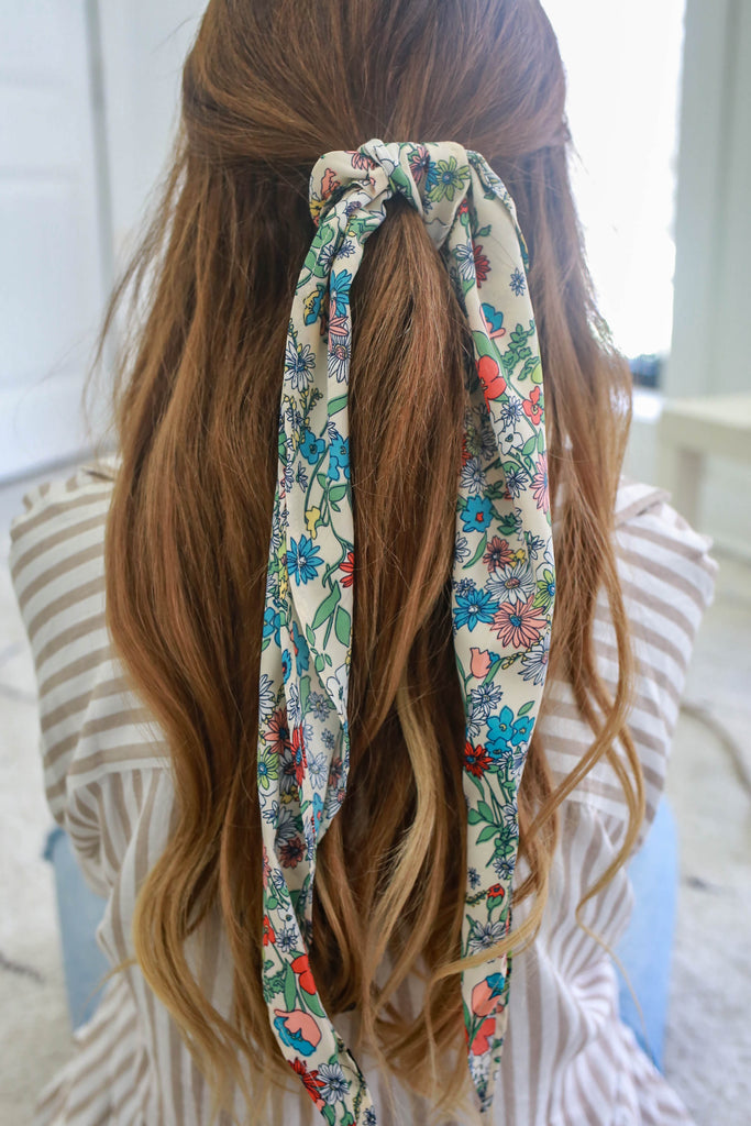 Floral Printed Hair Scarf - Online Clothing Boutique