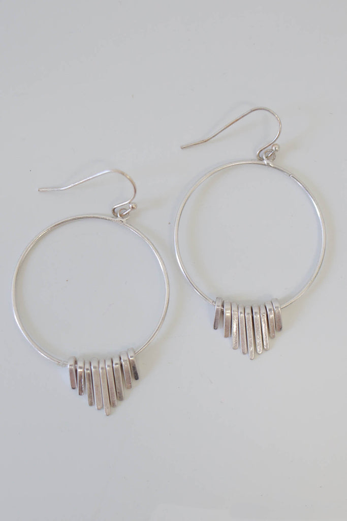 Metal Dangle Earrings - Online Clothing Boutique