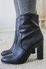 ROMAN Faux Leather Mid Calf Booties - Online Clothing Boutique