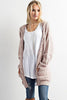 Long Sleeve Cable Knit Cardigan - Online Clothing Boutique