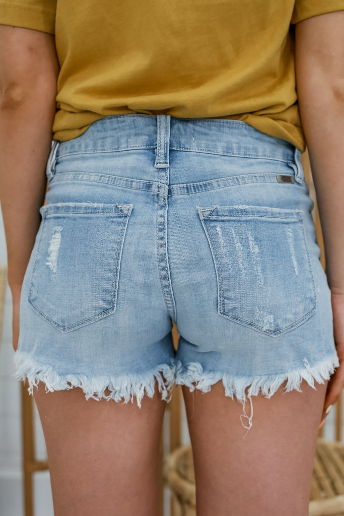 Mid Rise Cut Off Denim Shorts | Stylish & Affordable | UOI Online