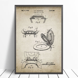 Vintage Bathroom Patent Art