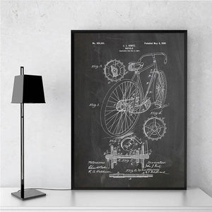 Bicycle Patent 1899 negative