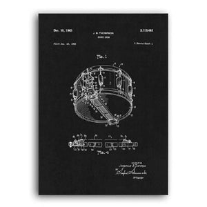 Snare Drum Patent 1963 Negative