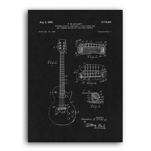 Guitar Patent 1953 Negative