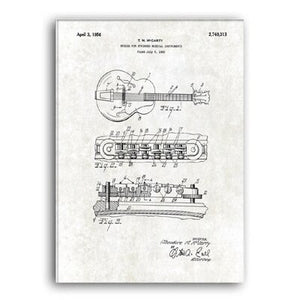 Bridge for Guitar Patent 1956