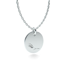 Load image into Gallery viewer, Rhodium Plated Silver Wheat Pendant with 18'' Chain