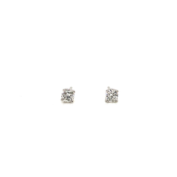14KW Diamond Stud Earrings 0.33ctw