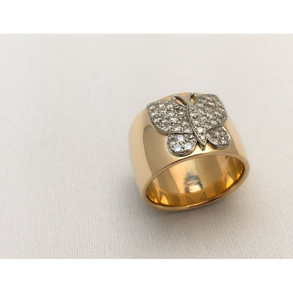 Custom Design Diamond Butterfly Ring