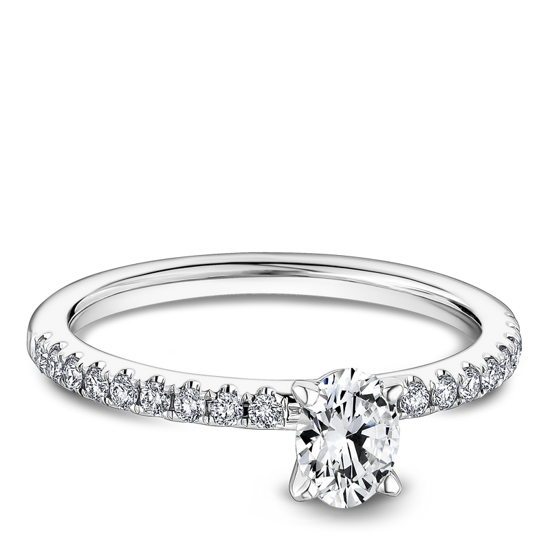 One Love Diamond Engagement Ring In 14K White Gold